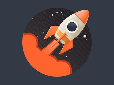 Animated loader for Secret Project loader preloader animation gif rocket dark space layout slider moving star material