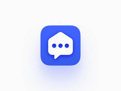 ForumDoma iOS icon mobile app socialmedia shape blue chat forum ios icon icon
