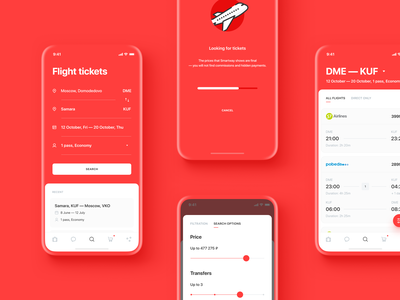 Smartway App Design layout search loading ux ui travel mockup mobile design mobile icons filter tickets flight business booking app