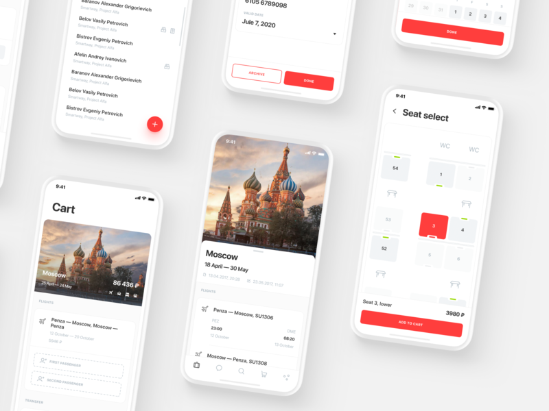 Smartway App Design ux ui trip travel tickets search mockup mobile design mobile layout icons trains hotels flights filter clean business booking app