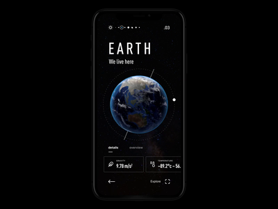 Solar System App Animation mars sun mercury moon earth dark ui dark smooth motion design interaction ux ui icons solar system planets space motion mobile design animation app