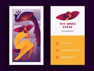 The Mixer House | Speakeasy Branding businesscard speakeasy vector logo geometric art deco procreate design illustration art modern