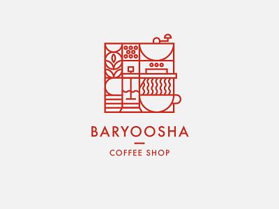 Logo for a Coffee Shop brand design minimalist geometric modern art deco branding illustrator art vector minimal design logo