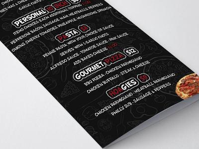 Big Reds Pizza Brochure Mockup