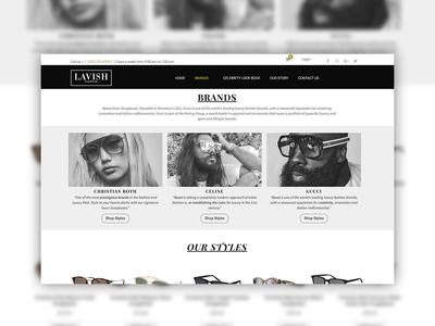 Lavish Eyewear Website Mockup