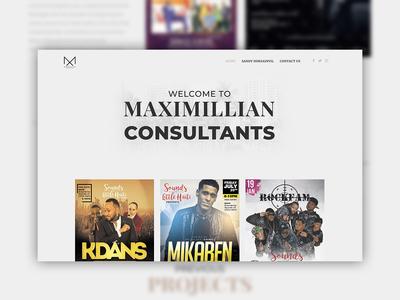 Maximillian Consultants Website Mockup