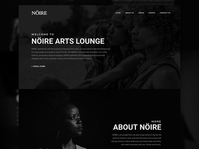 Noire Website Mockup