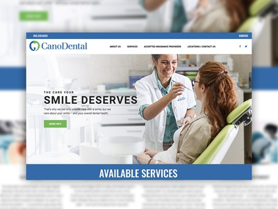 Cano Dental Website Mockup