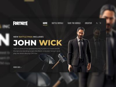 Fortnite John Wick Website Concept