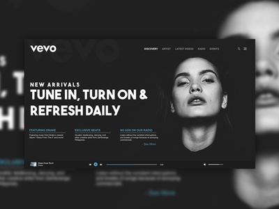 Vevo Music Website Concept