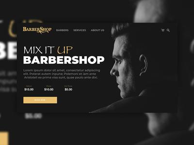 Barbershop Website Concept