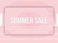 Gucci Summer Sale Website Concept