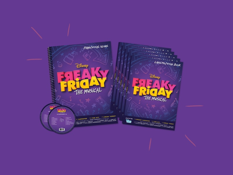 Freaky Friday The Musical Branding entertainment layout childrens book book cover design cd artwork cd music book book cover typography advertising digital illustration packaging logo branding illustration graphic design design brand identity brand
