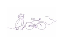 Telia illustration monkey