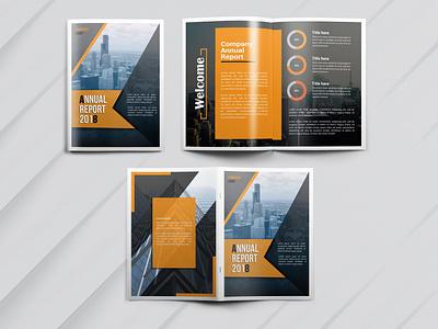 Annual report design minimal logo flat typography branding design illustration