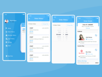 Order History & Navigation Screens For Laundry Delivery Boy App uiuxdesign laundry app