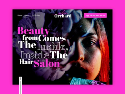 Orchard Salon website design ui website flat ux web typography branding design