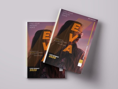 EVA magazine design magazine cover magazine vector typography branding design