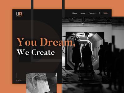 R Studio website design ui website ux flat web typography branding design