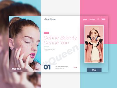 Elvin Queen website design ui website ux flat web typography branding design