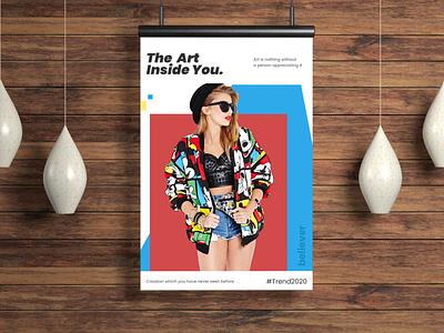 Art poster vector branding design