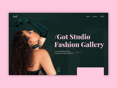 GOT website design ui website ux flat web typography branding design