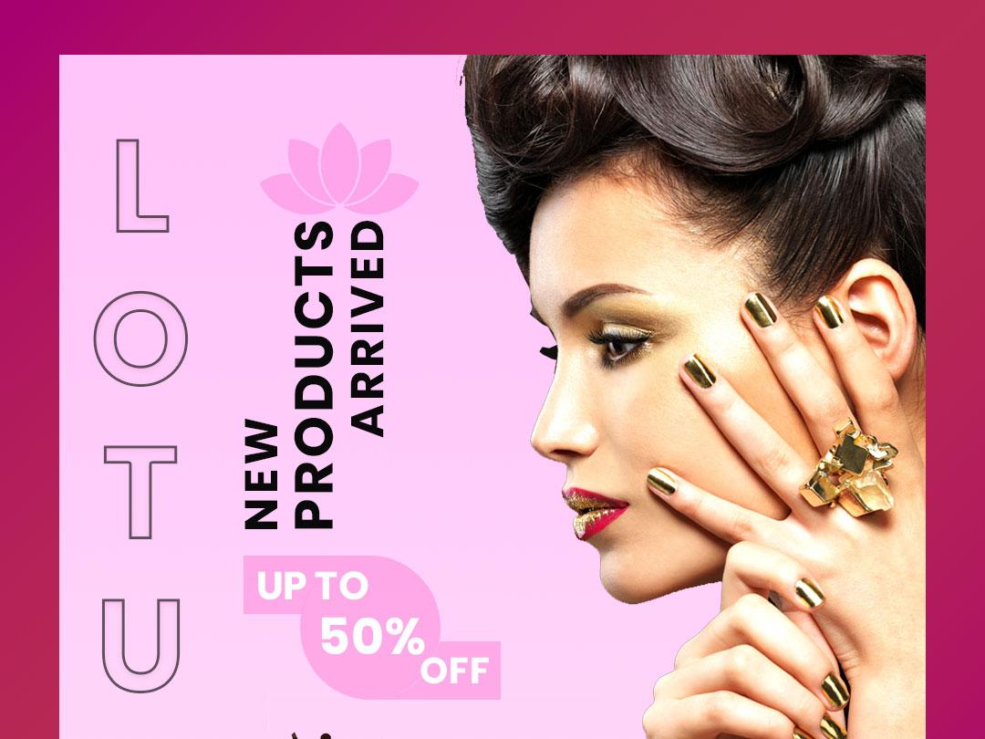 Lotus illustration vector instagram design branding
