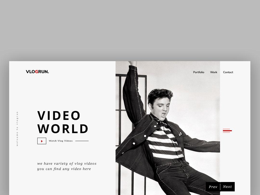 VlogRun ui web website illustration instagram typography branding design