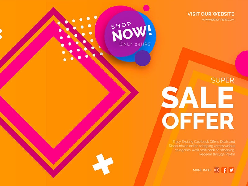 Sale vector illustration instagram typography branding design