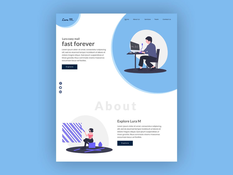 Lura M website web vector instagram typography branding design