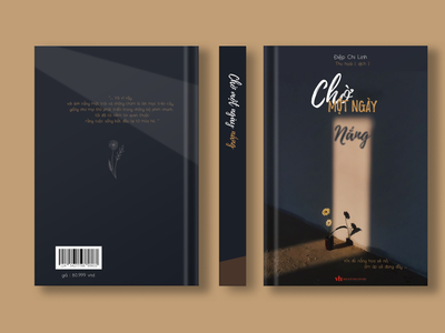"Book Cover design / novel "" waiting a sunny day "" typography adobe illustrator design illustration cover design bookcover book cover design graphic design"