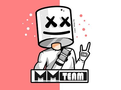 mm fan logo vector flat design logo illustration