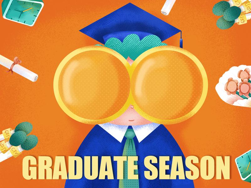 graduate season illustration
