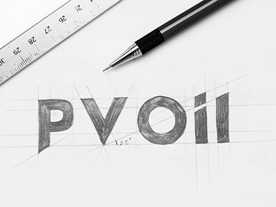 PV Oil  pv oil vietnam sketch logotype logo construction bratus jimmi tuan oil gas