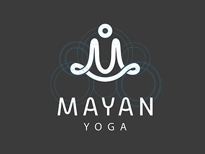 Mayan Yoga Bratus yoga health care process logo people vietnam bratus grid logo circle typeface
