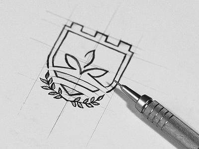 Logo Sketching sketching brand mark icon symbol bratus vietnam education