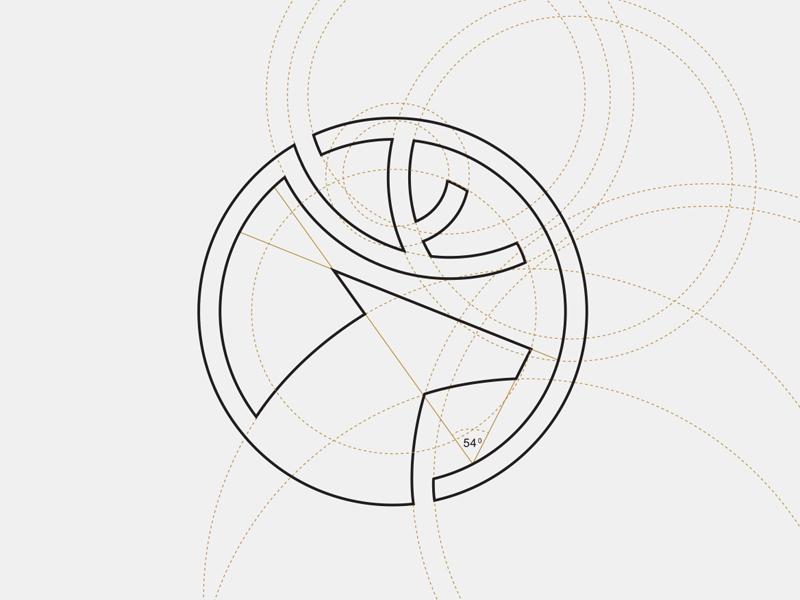 Dia Holdings - Logo grid system  deer invesment animal logo concept financial vietnam ho chi minh symbol icon brand mark logo grid