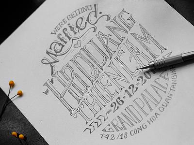 Invitation Typography typography lettering hand lettering invitation wedding vietnam jimmi tuan