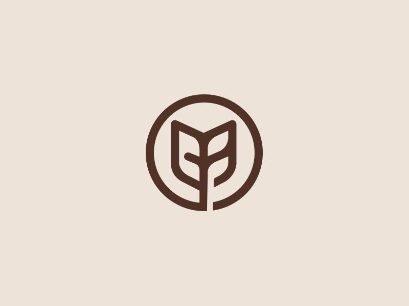 Logo mark  logo designer foods logo logotype vietnam monogram vietnam advertising agency branding agency leaf negative space lines grid