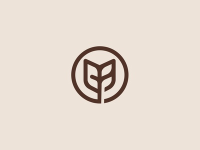 Logo mark  logo designer foods logo logotype vietnam monogram vietnam advertising agency branding agency leaf negative space lines grid