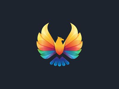 Eagle - Brand Mark  motion trade logo designer vietnam branding agency vietnam logo design eagle colorful negative space animal advertising agency vietnam bird bratus vietnam