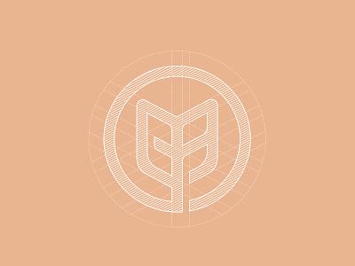 Logo Mark  grid logo circle grid logo logo designer foods logo branding agency in ho chi minh branding agency vietnam bratus monogram leaf