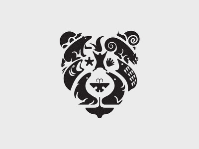 Bear & Animals  icon bratus agency negative space travel bear animal symbol logo designer vietnam branding agency vietnam mark