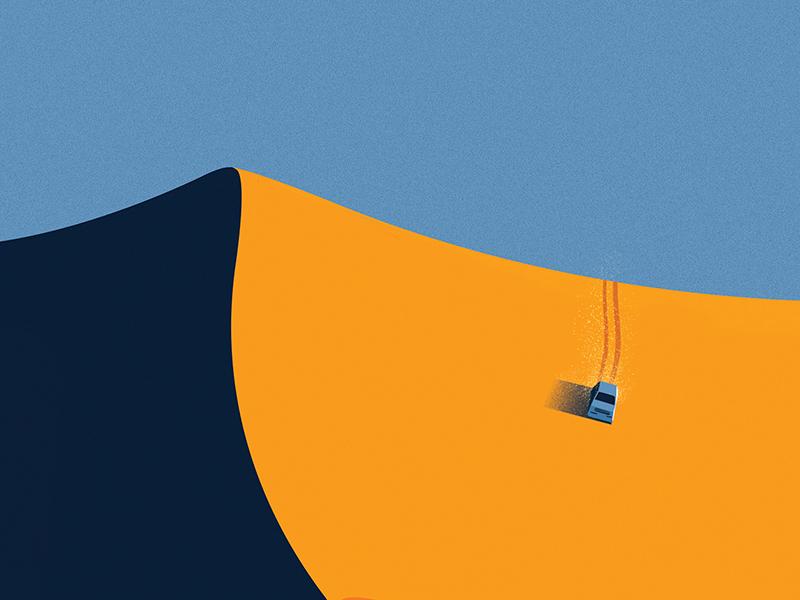 Desert Safari Dubai  branding agency vietnam landscapes illustration vietnam bratus minimalism minimalillustration