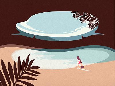 Hidden Beach - Mexico  tour travel branding agency vietnam landscapes illustration vietnam bratus minimalism minimalillustration