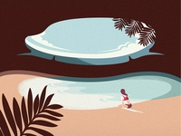 Hidden Beach - Mexico  tour travel branding agency vietnam landscapes illustration vietnam bratus minimalism minimalillustration