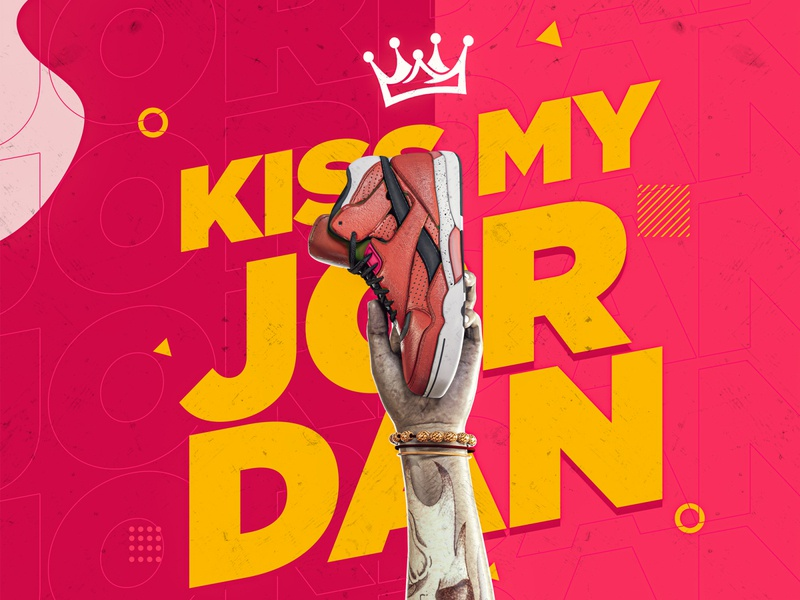 Kiss My Jordan product design graphicdesign design creator 3d art creativity art creative design
