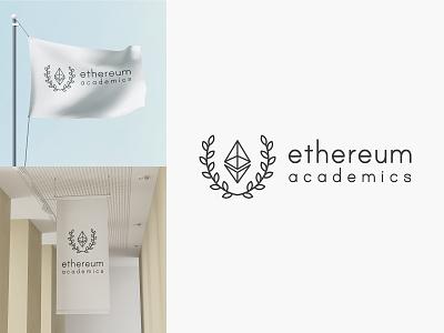 30 days logo challenge 15 - Ethereum Academics logodesign logoconcept logochallenge logocore branding 30dayslogochallenge vector logo illustrator design