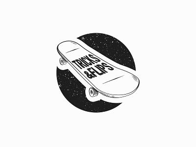 30 days logo challenge 23 - Tricks and Flips skateboard tricksandflips design dailylogochallenge logoconcept logochallenge logocore 30dayslogochallenge illustrator logo