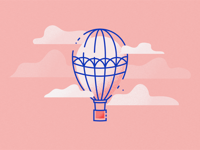 Logo challenge day 2 hotairballoon vector design illustration dailylogochallengeday2 dailylogochallenge logodesign logoconcept logochallenge illustrator logo